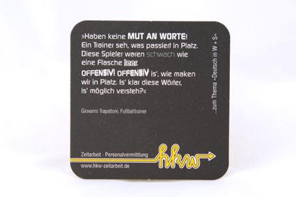 Werbekampagne schwarz/gelb
